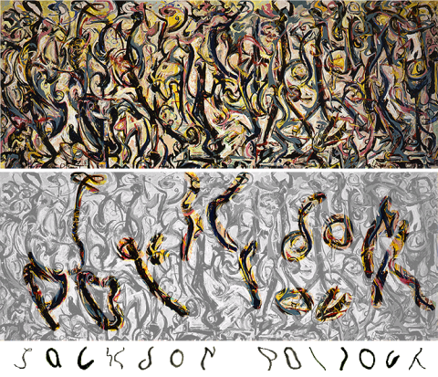 Jackson Pollock - Mural (1923). Créditos: University of Iowa Museum of Art, Gift of Peggy Guggenheim 1959.6 / © 2009 Pollock-Krasner Foundation / ARS, NY.