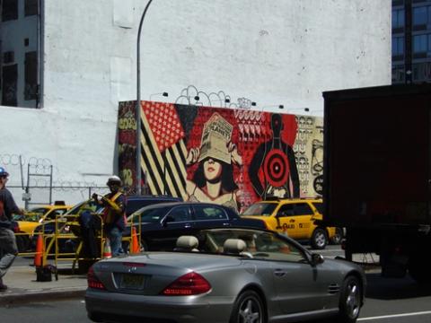 Shepard Fairey Mural @ SoHo, NYC